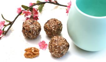 Vanilla Tahini Protein Bliss Balls